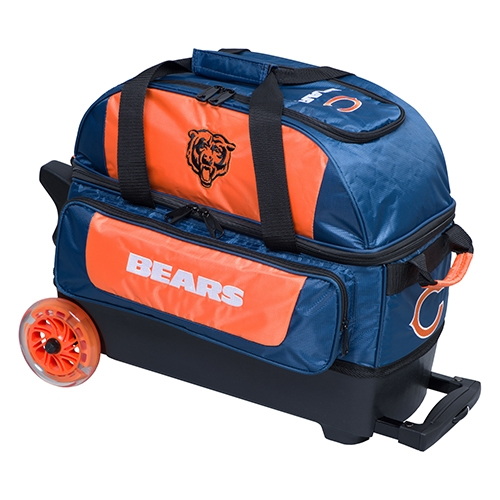 chicago bears nfl double roller bowling bag