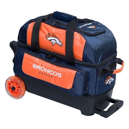 denver broncos nfl double roller bowling bag