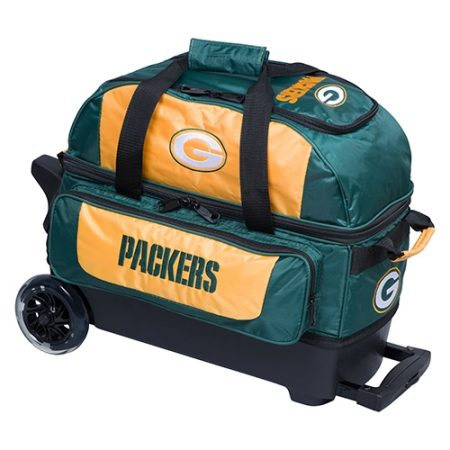 green bay packers nfl double roller bowling bag