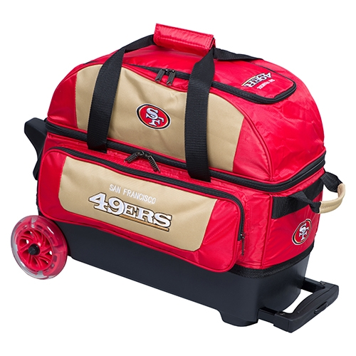 san francisco 49ers nfl double roller bowling bag