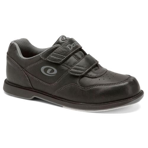 Dexter Velcro V-Strap Black Bowling Shoes