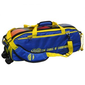 Vise Clear Top Triple Bowling Ball Tote Yellow/Blue