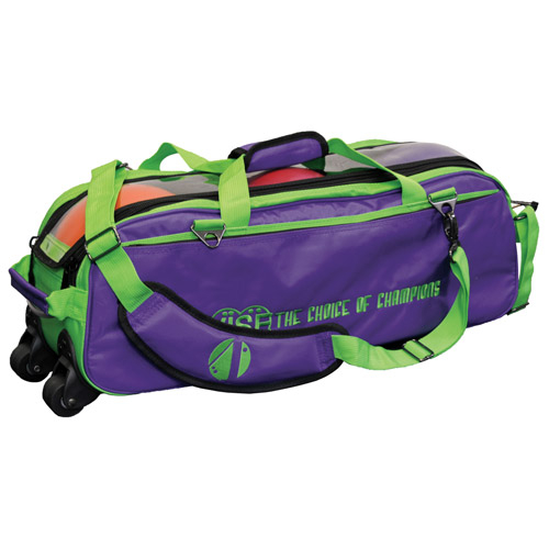 Vise Clear Top Triple Bowling Ball Tote Green/Grape