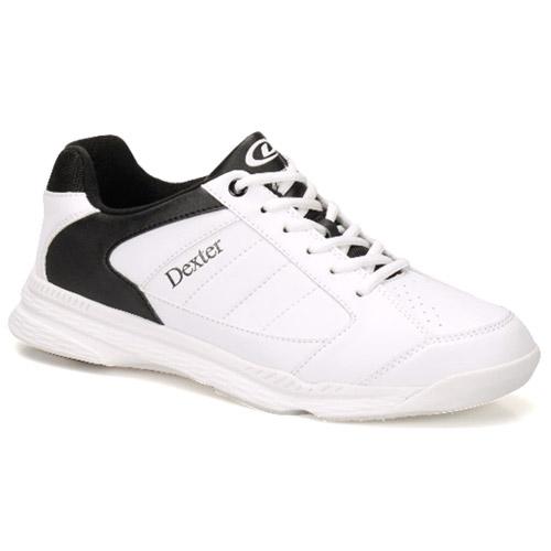Dexter Ricky IV White/Black Wide Width Men's Bowling Shoes