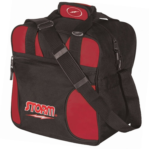 Storm 1-Ball Solo Single Tote Bowling Bag Black-Red