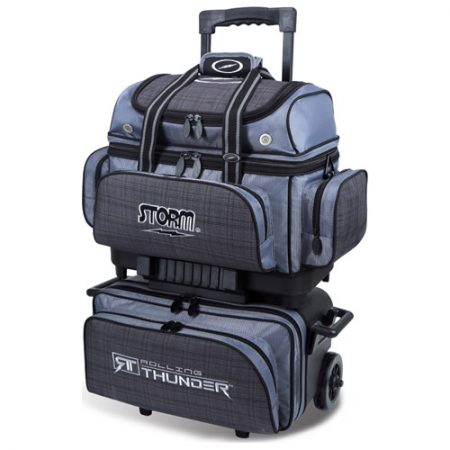 Storm Rolling Thunder 4-Ball Bag Charcoal Plaid/Grey/Black