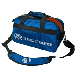 Vise Clear Top Double Bowling Ball Tote Blue