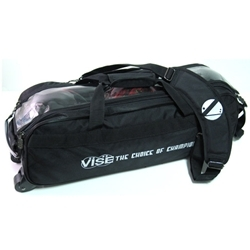 Vise Clear Top Triple Bowling Ball Tote Black