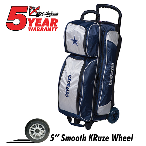 dallas cowboys nfl triple roller bag