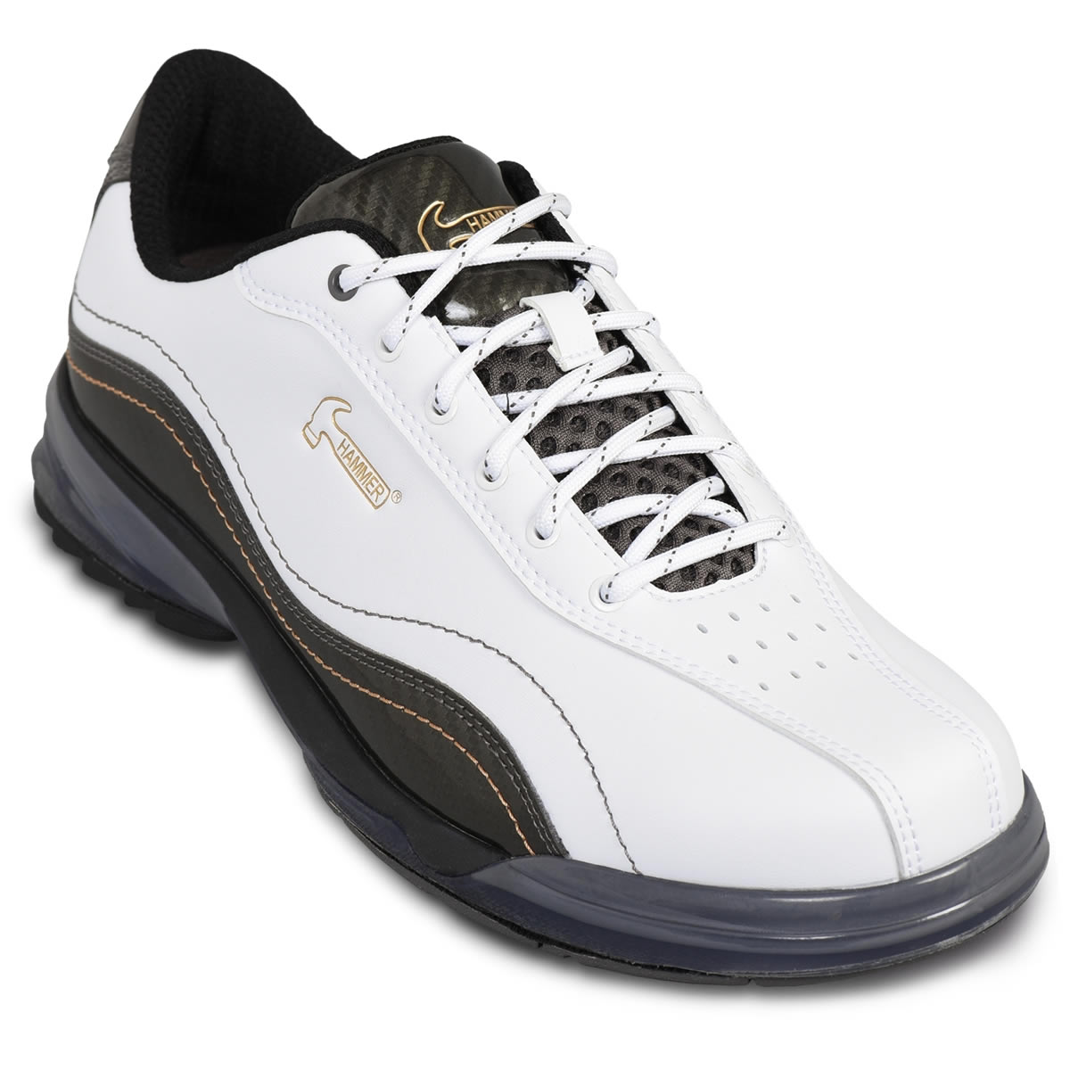 Hammer Force White/Carbon Wide Width Men's Bowling Shoes