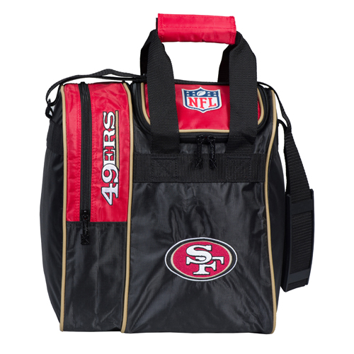 nfl 49ers single bowling ball tote