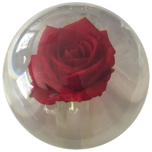 Red Rose Clear Custom Bowling Ball