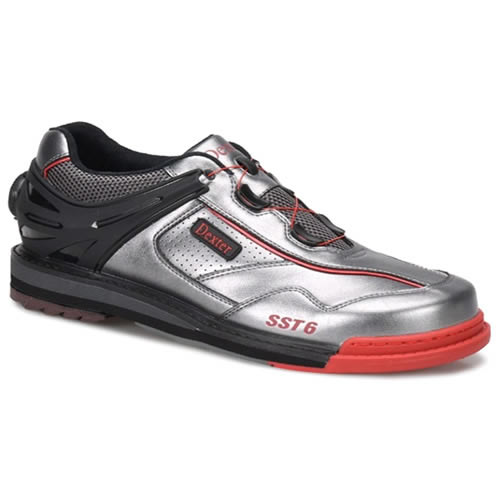 Dexter SST 6 Hybrid BOA Grey/Black/Red Men's Wide Bowling Shoes