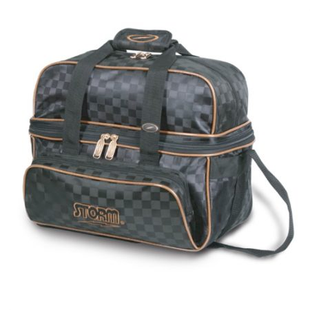 storm deluxe double tote black gold