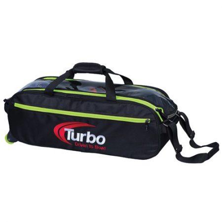 turbo pursuit green slim triple tote