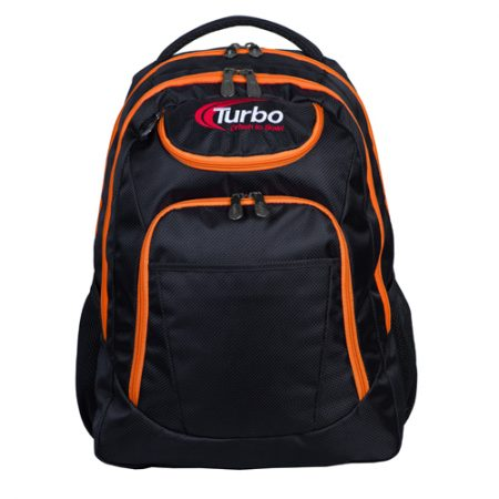 turbo shuttle orange bowling backpack