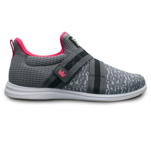 brunswick versa grey pink womens bowling shoe