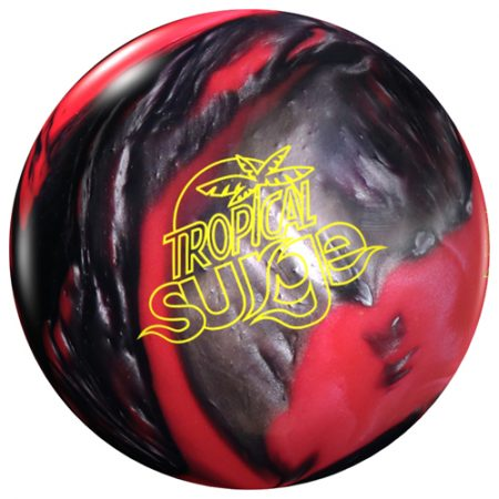 Storm tropical surge pink black bowling ball