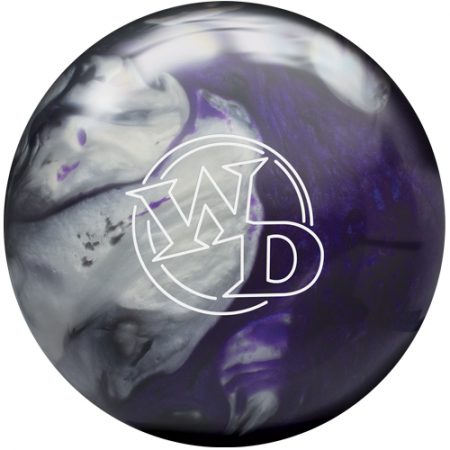columbia white dot black purple silver bowling ball