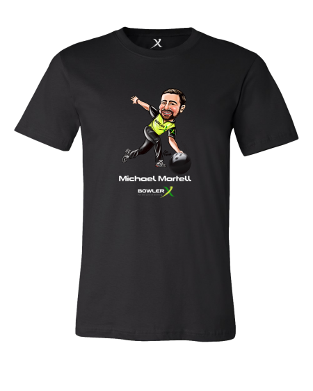 Michael Martell PBA bowling shirt from BowlerX Staff Caricature