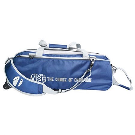 vise clear top triple tote navy silver bag