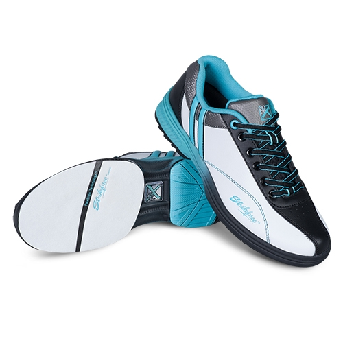 kr starr women's bowling shoes white black teal