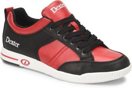 dexter dave black red mens bowling shoes
