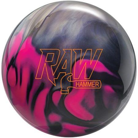 hammer raw hammer bowling ball pink purple silver