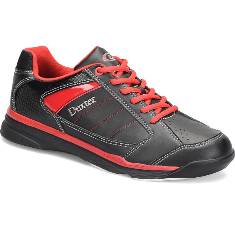 Dexter Ricky IV Black Red Mens Bowling Shoes
